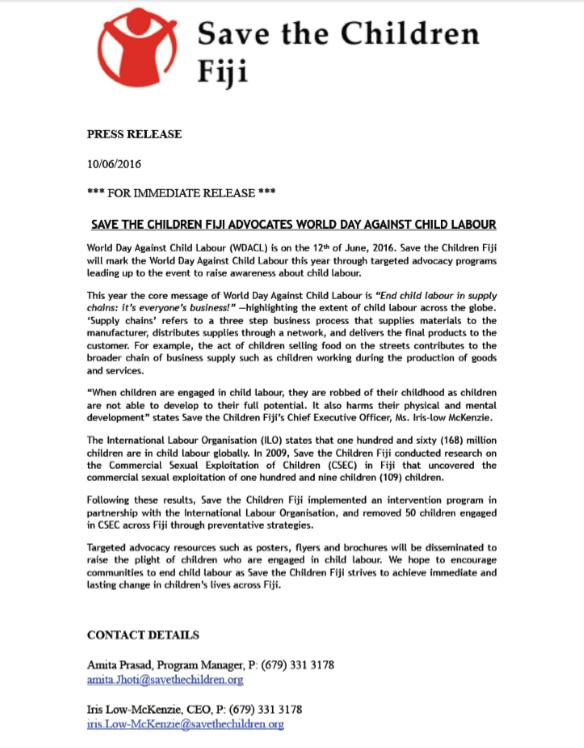 WDACL Press release